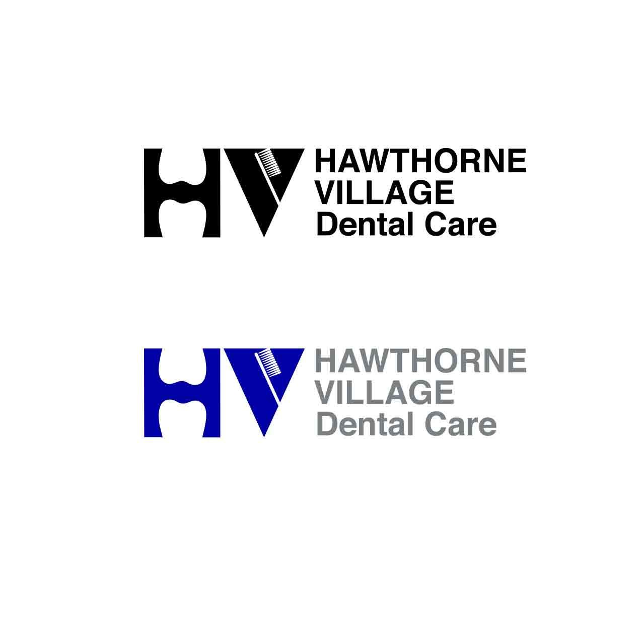 hawthorne-village-dental-care-logo-design